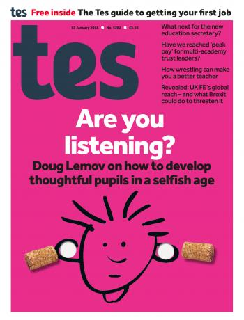 Tes - 12 January 2018 cover image