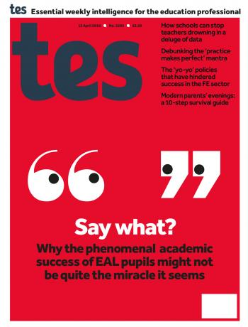Tes - 13 April 2018 cover image