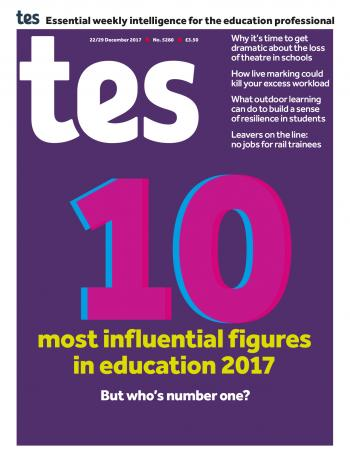 Tes - 22/29 December 2017 cover image