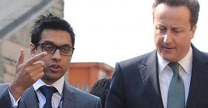 Sajid Hussain Raza and David Cameron in 2012