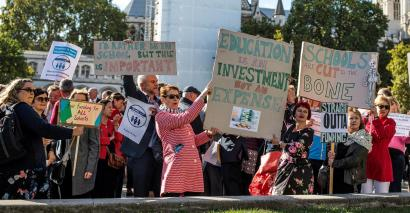 Headteachers' march in Westminster over school funding was labelled as 'too polite'