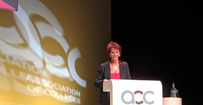 Skills minister Anne Milton spoke to the Association of College's annual conference in Birmingham