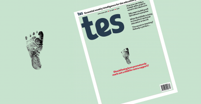 Tes magazine cover 16 November