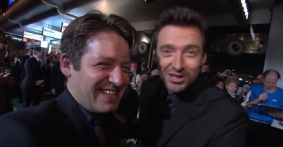 Hugh Jackman met former pupil Rollo Ross on the red carpet.