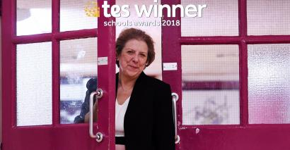Denise Fox of Fulham Cross Girls' School won the lifetime achievement award at the 2018 Tes Schools Awards.