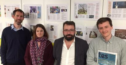 The Tes Podcast: Left to right, Martin George, Caroline Henshaw, Ed Dorrell and Will Hazell.