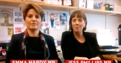 Emma Hardy and Jess Phillips peer abuse