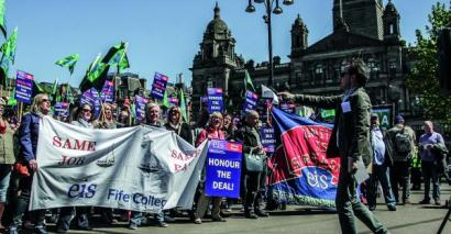 college scotland strike pay conditions harmonisation