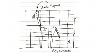 Hywel Roberts' primary school class were thrilled by a story about a giraffe called Dave