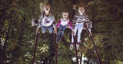Playing in swings helps children's physical development, concentration and social skills, research shows
