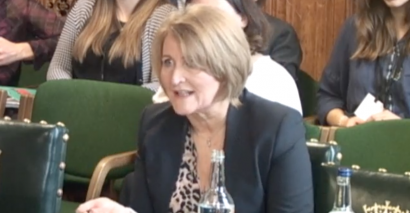 Children's Commissioner for England Anne Longfield giving evidence to MPs on the Commons Education Select Committee.