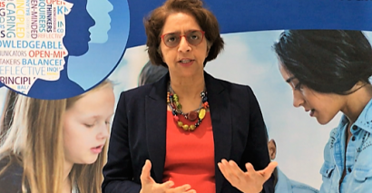 Siva Kumari at the IB Global Conference