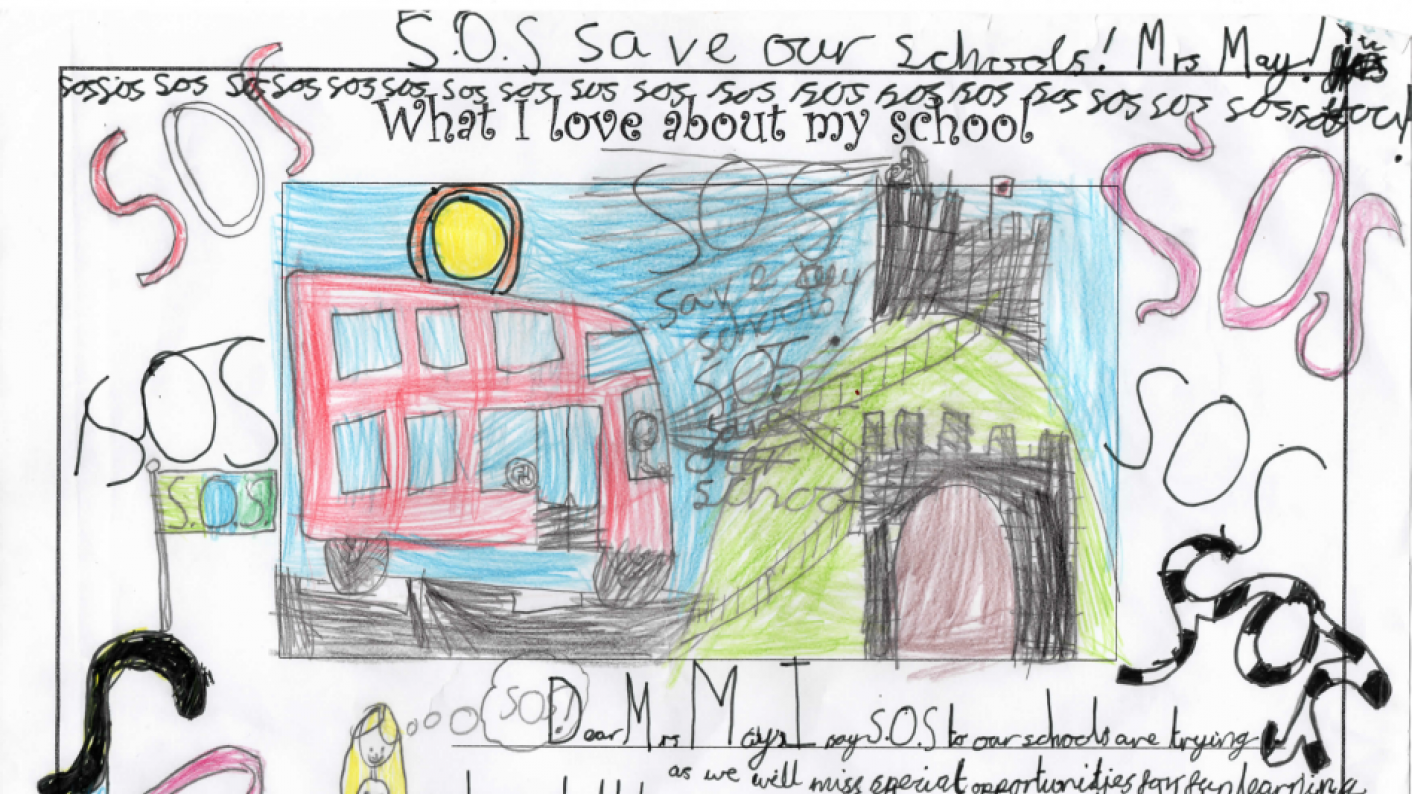 Pupils' 'save our schools' message to MPs