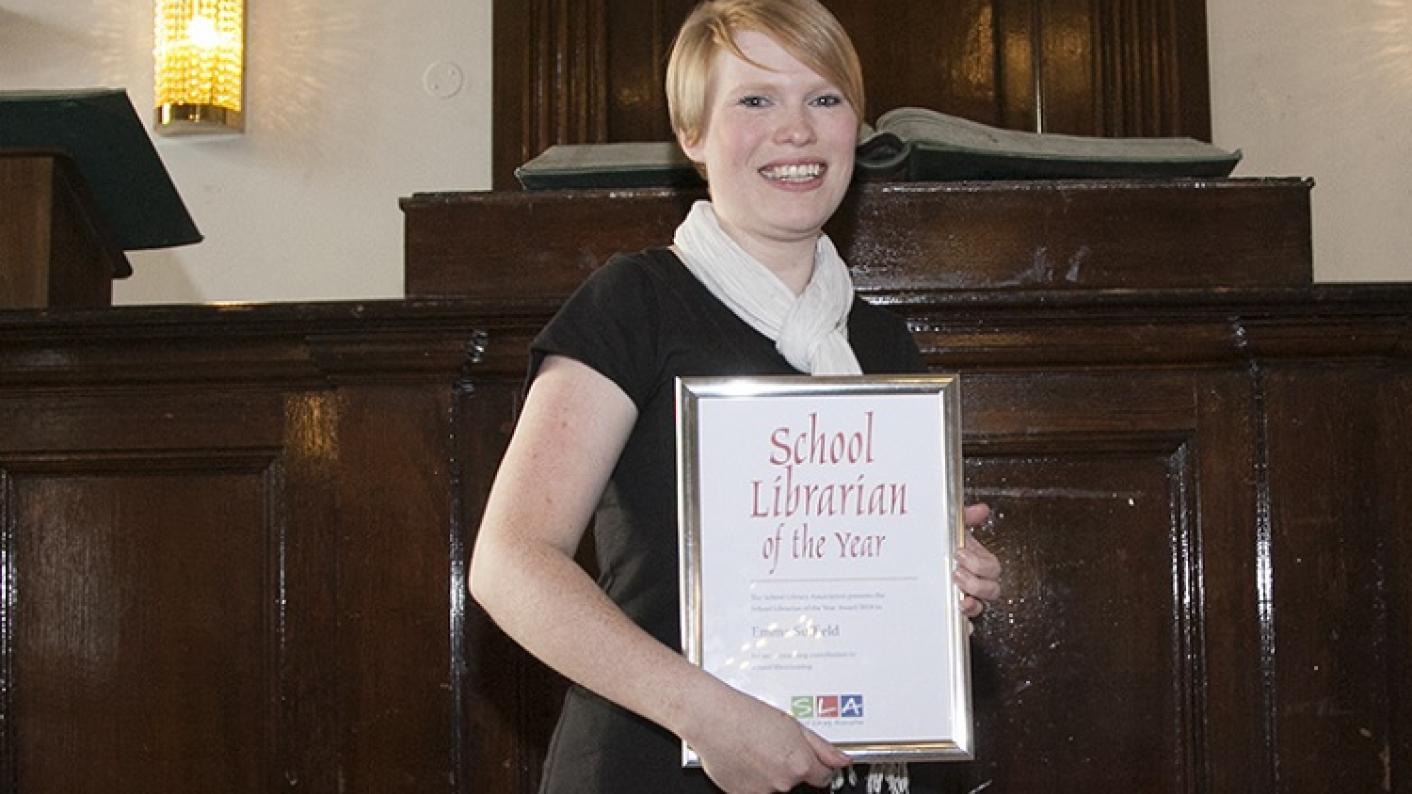 Emma Suffield, winner of School Librarian of the Year 2018