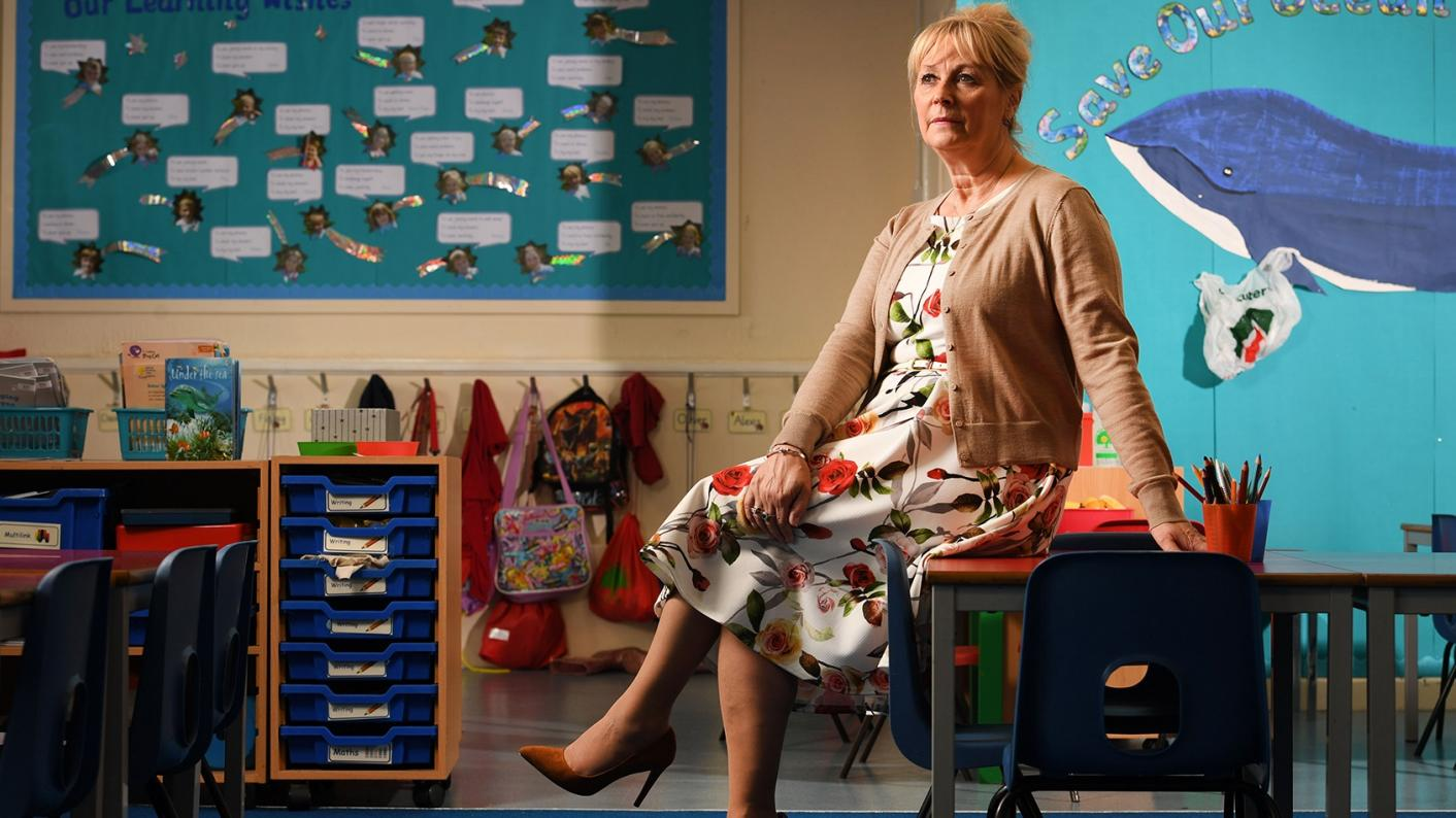 Elisabeth Carney-Haworth in her office at Torpoint Nursery and Infant School