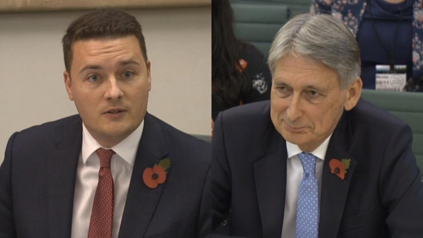 Labour MP We Streeting challenged chancellor Philip Hammond on FE funding during a Treasury select committee hearing