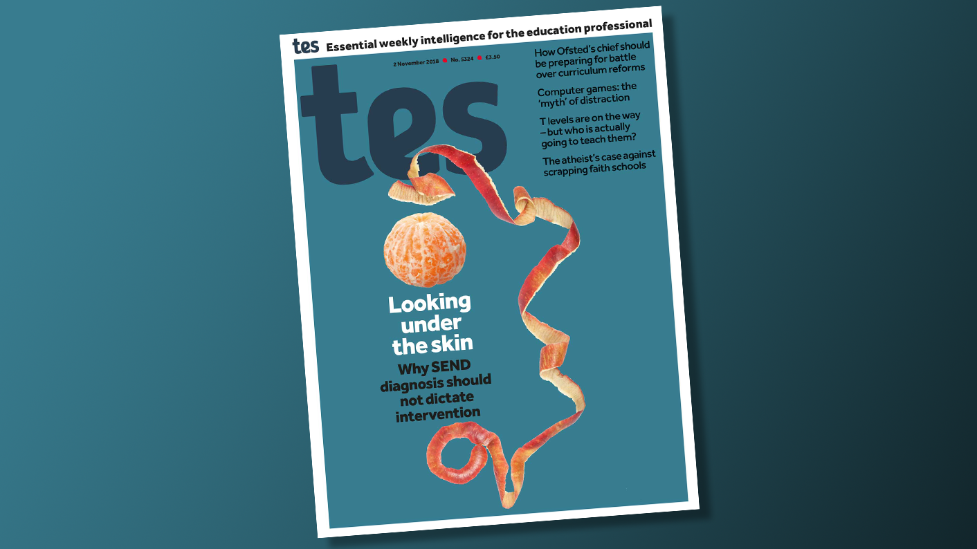 In this week's Tes magazine: 2 November 2018