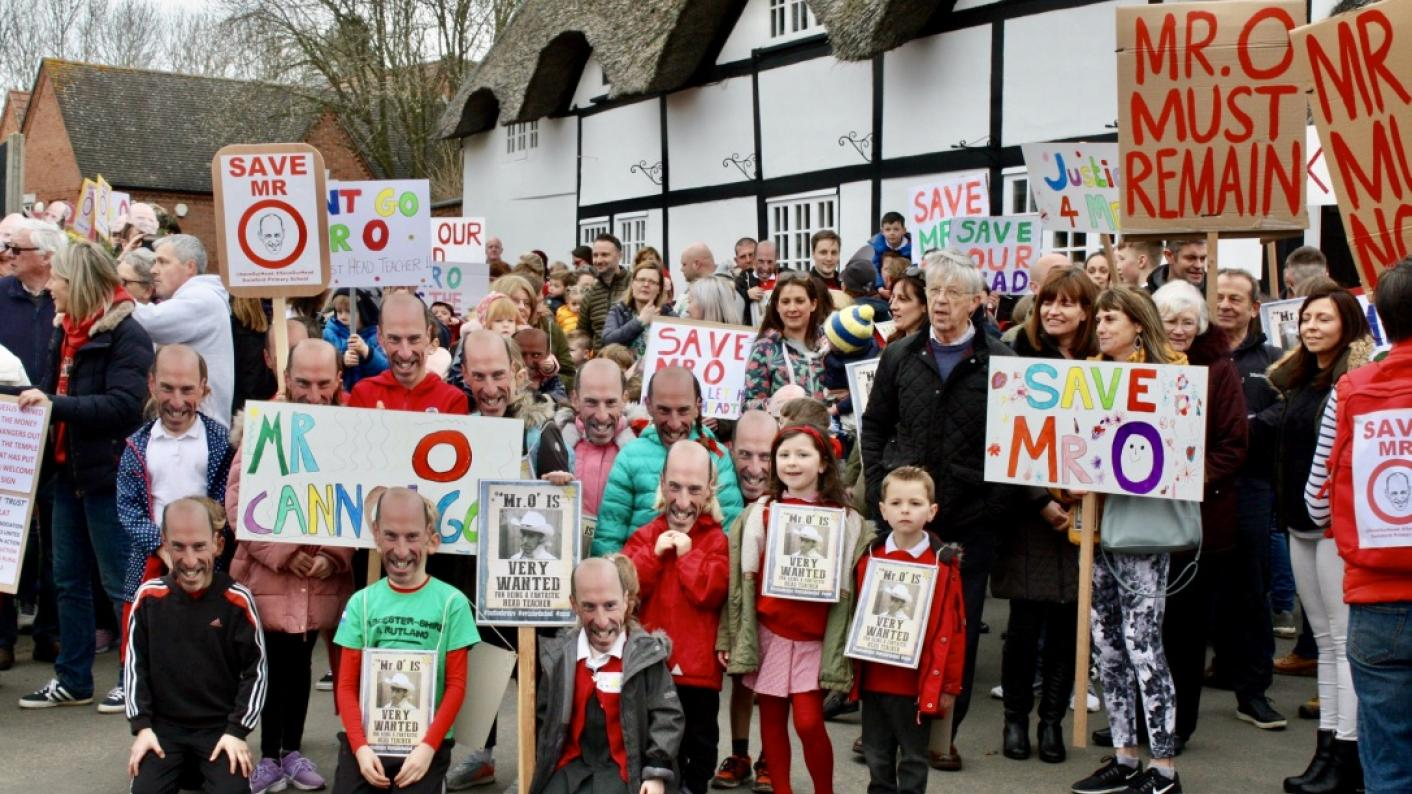 Parents are campaigning against the removal of Swinford Primary headteacher