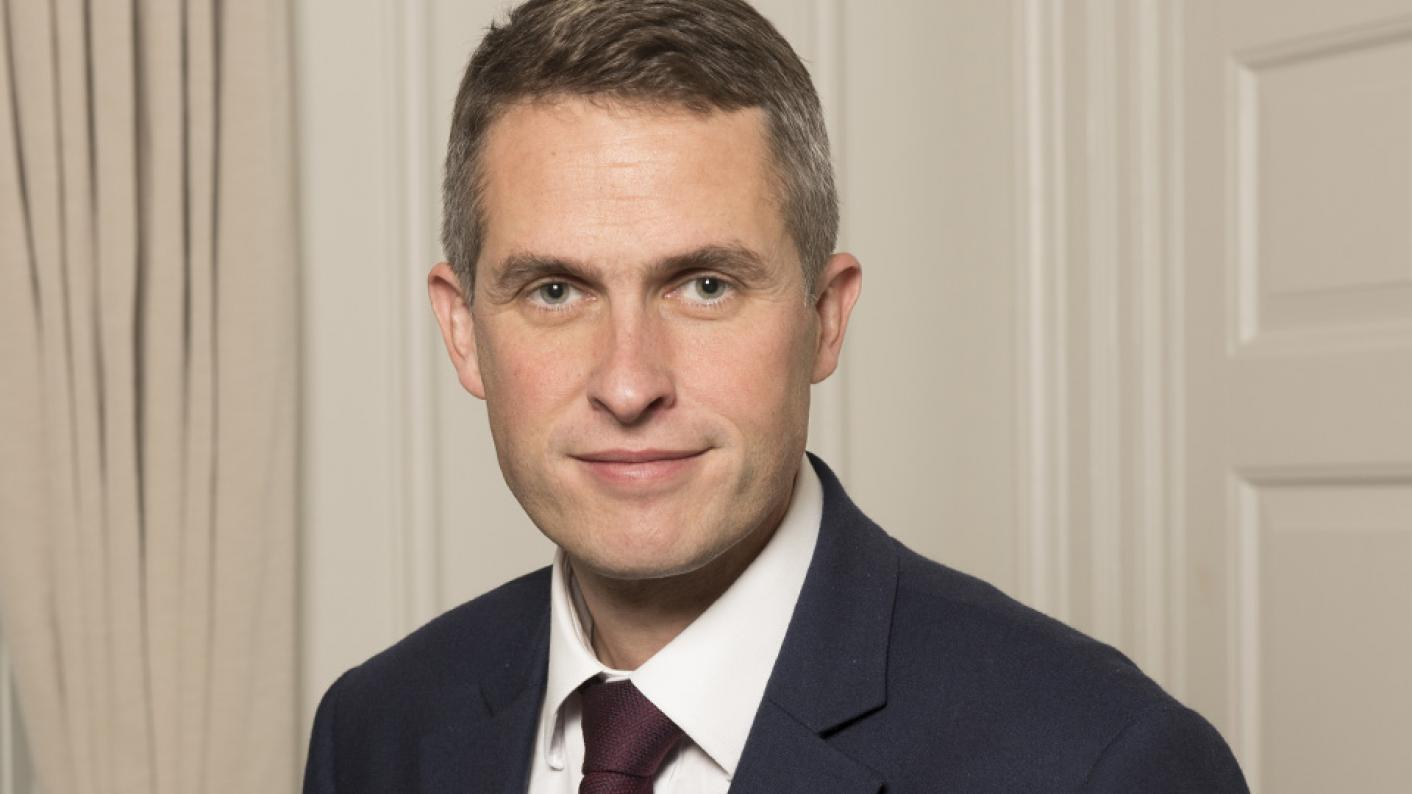 Gavin Williamson was speaking at the Conservative Party conference.