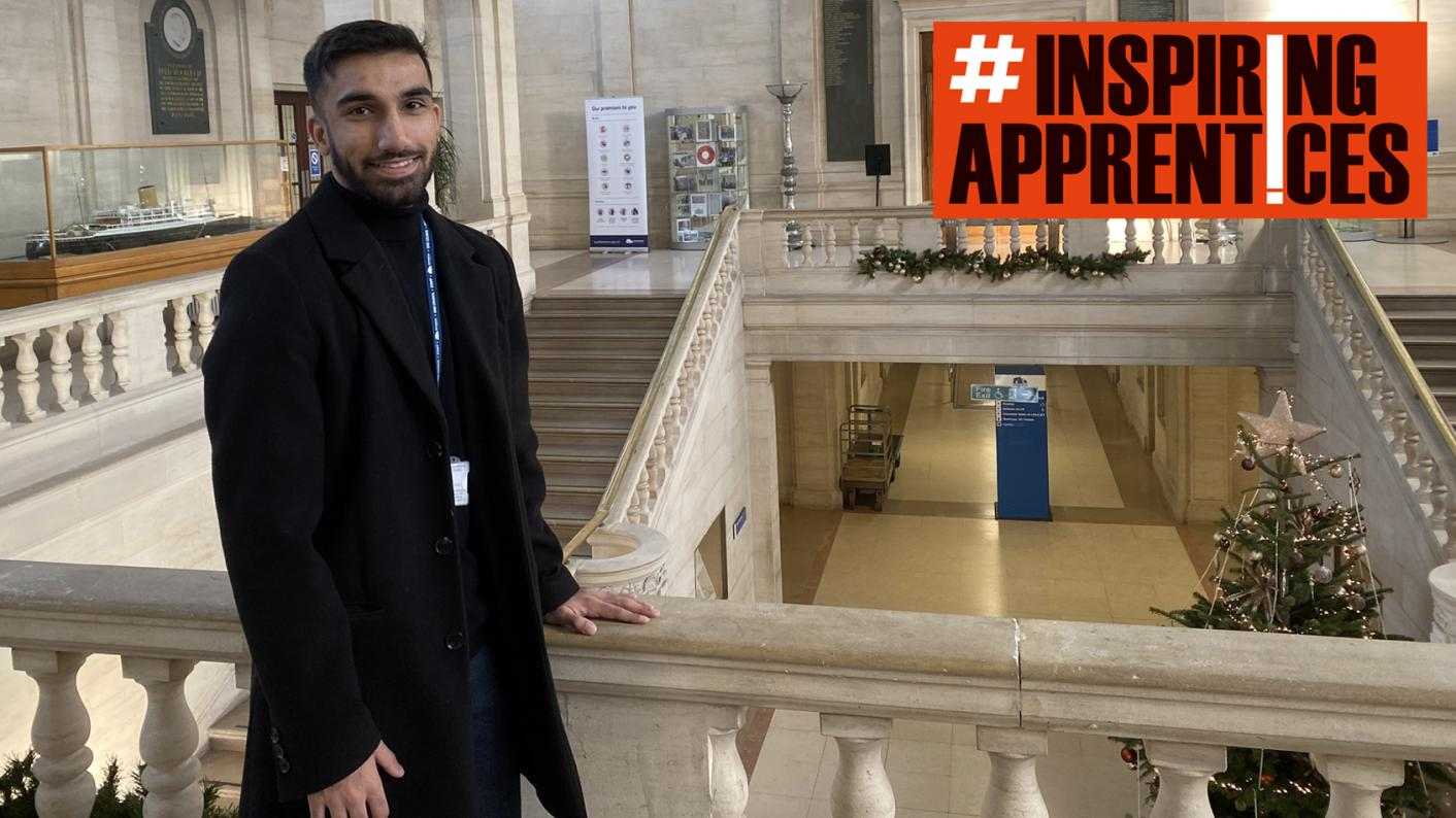 Apprenticeships: Apprentice property surveyor Camran Khan says that in his role he is helping to improve people's lives