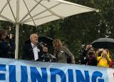 Labour leader Jeremy Corbyn addresses the Love Our Colleges rally in Parliament Square