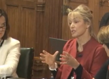 Headteacher Tania Beard speaking at Commons Ed Committee