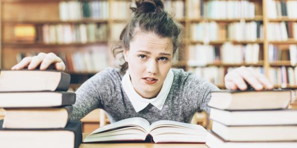 I excelled at English...but reading books terrified me